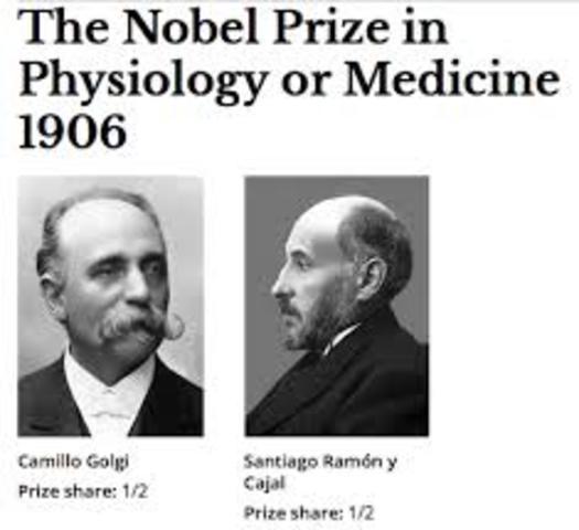 Premio Nobel de Fisiología y Medicina en 1906