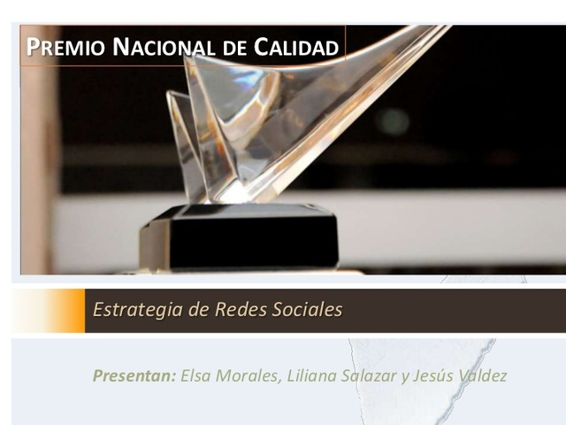 Se constituye, en México, el Premio Nacional de Calidad Total con oficina dependiente de la SECOFI