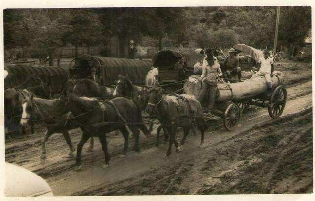 A 1º viagem comercial com carroça