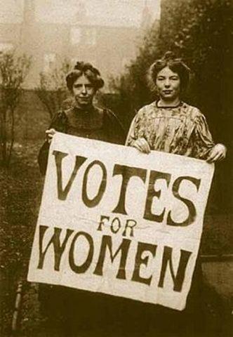 El derecho de voto a las mujeres.