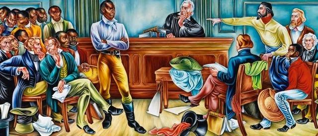 El juicio de La Amistad, New Haven, Connecticut.