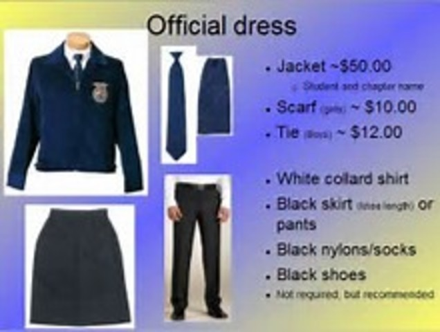 FFA Official Dress standards created.