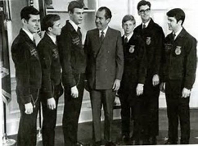 Fred McClure from Texas was the first African-American elected to a national FFA office