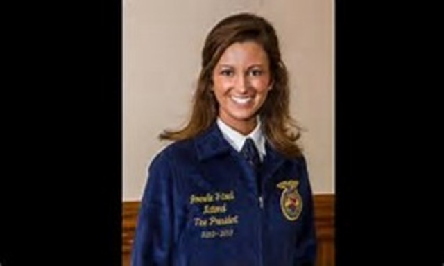 Jan Eberly, from California, became the first female national FFA president.