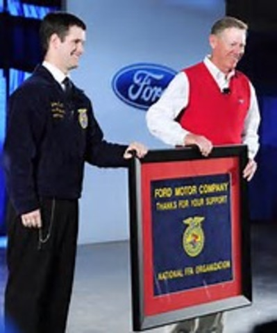 National FFA Foundation receives first $1 million contribution from the Ford Motor Company.