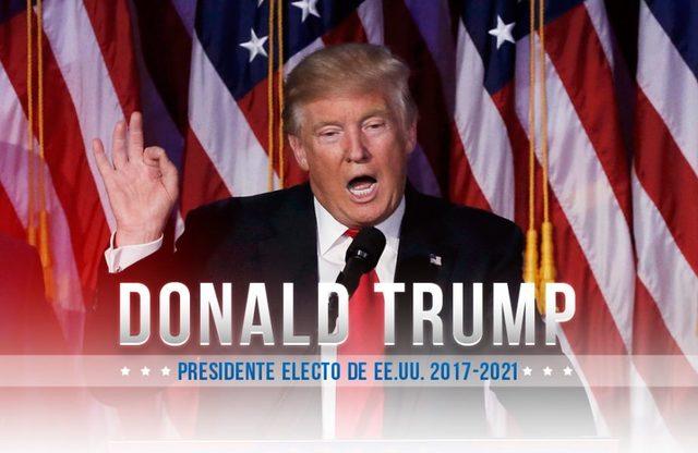 Donal Trump Presidente de E.E.U.U