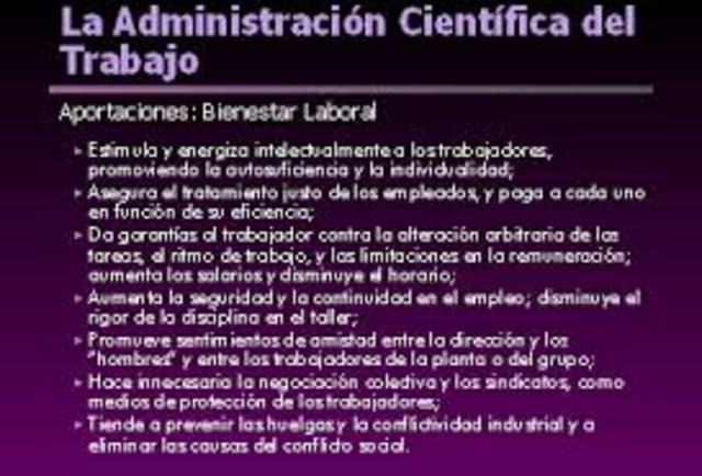 Administración científica del trabajo