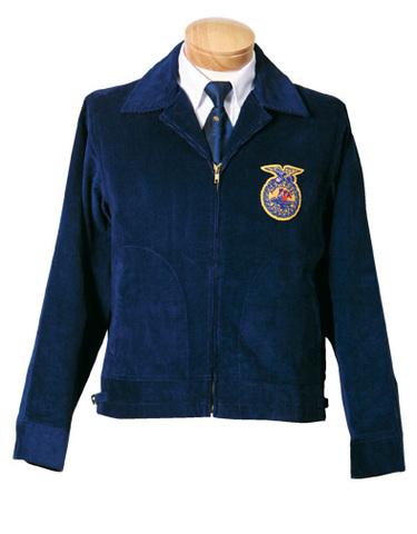 Blue corduroy jacket