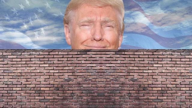 el muro  que separa Estados Unidos de México