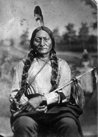Sitting Bull and his Followers Enter Canada