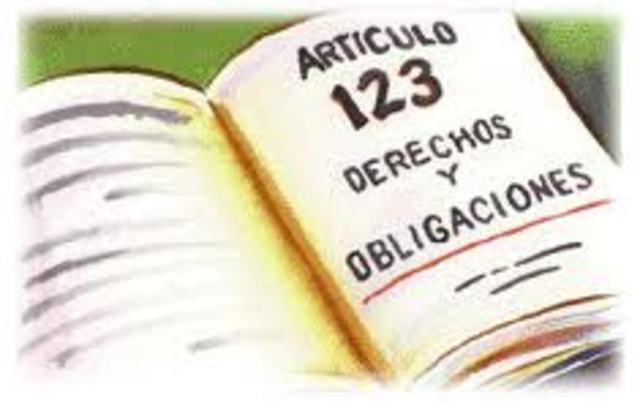 Reformas  al artículo 123 de 1960 y 1962