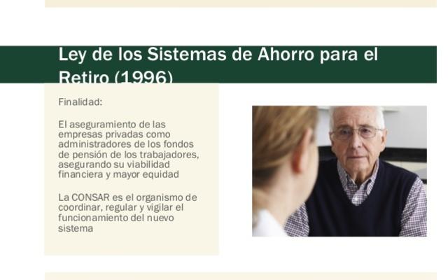 Nueva Ley de los Sistemas del Ahorro para el Retiro 1996