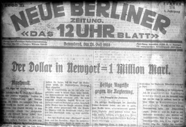Hiperinflación Alemana - República de Weimar