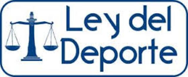 RESTRUCTURACIÓN DE LA LEY DEL DEPORTE