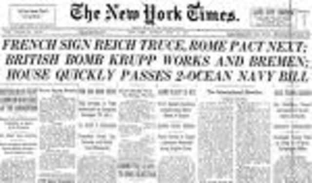 France surrenders to Germnay