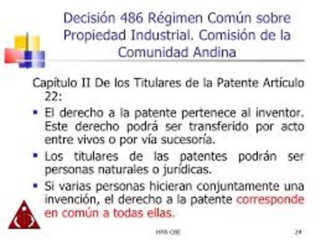 Se aprueba un nuevo Régimen Común sobre Propiedad Industrial.