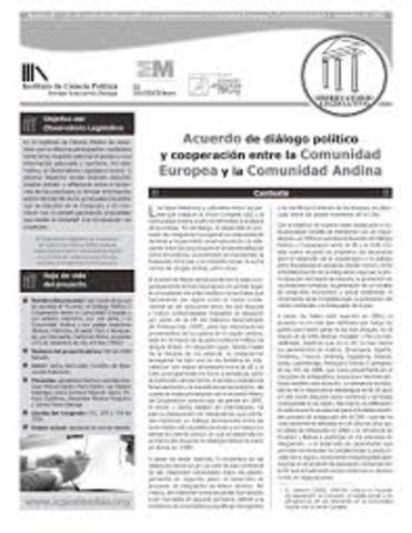 Suscripción en Roma de un Acuerdo de Diálogo Político y Cooperación entre la Comunidad Europea y la Comunidad Andina.