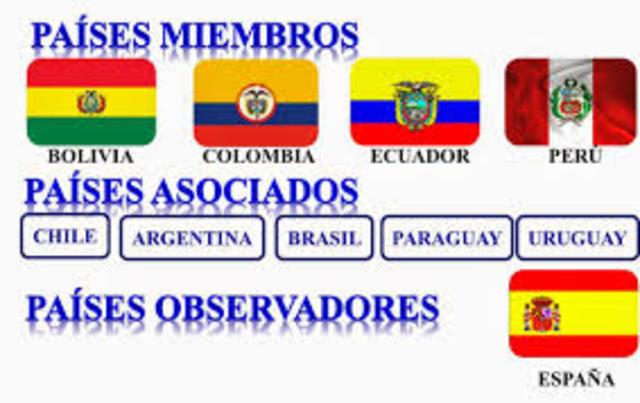 Se aprueba la norma andina que otorga la condición de Miembro Asociado de la Comunidad Andina a Argentina, Brasil, Paraguay y Uruguay, atendiendo a una solicitud de estos países integrantes del Mercosur.