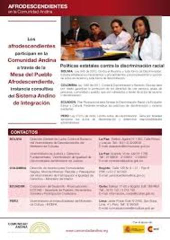 Se realiza la primera reunión de representantes de las comunidades afrodescendientes de la Comunidad Andina.
