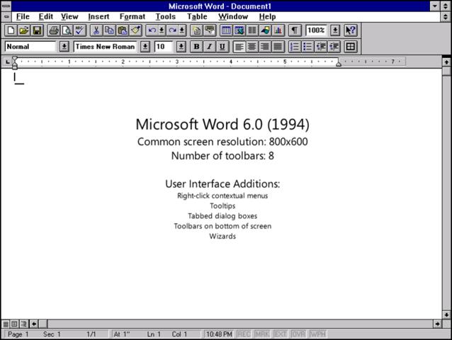 1993: Word 6.0