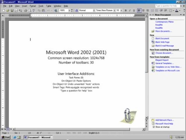 2001: Word 2002