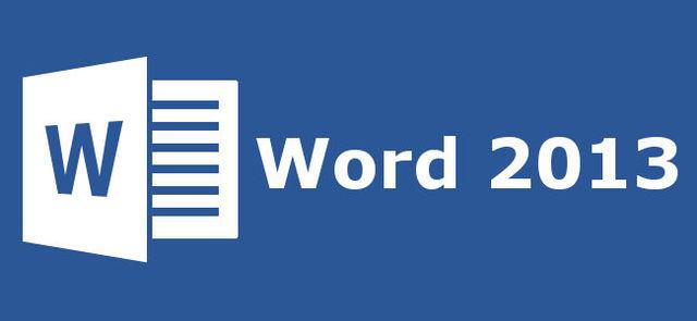 2012: Word 2013