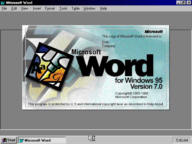 Word 95