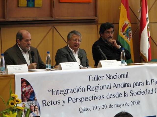 """Se pone en marcha el Proyecto """"Acción con la Sociedad Civil para la Integración Regional Andina"""" (SOCICAN), con un Fondo Concursable dirigida a diversos actores de la sociedad civil."""