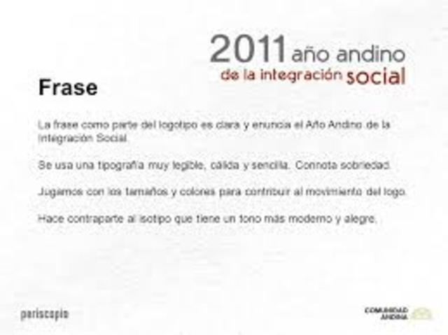 """El Consejo Andino de Ministros de Relaciones Exteriores declaró el 2011 como el """"Año Andino de la Integración Social."""