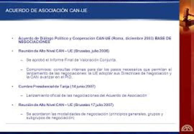 Países de la Comunidad Andina completan proceso de ratificación de Acuerdo de Diálogo Político y Cooperación CAN-UE.