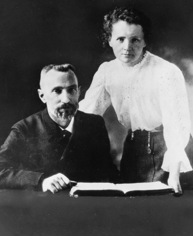 Marie Curie y Pierre Curie