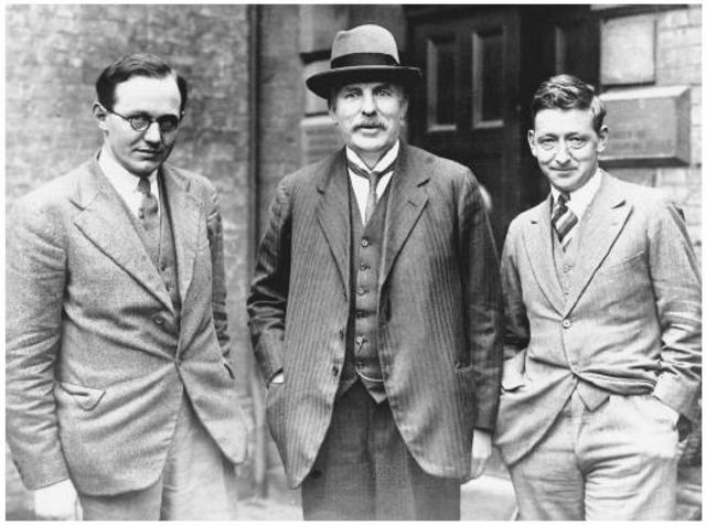 Rutherford, Hans Geiger y Ernest Marsden
