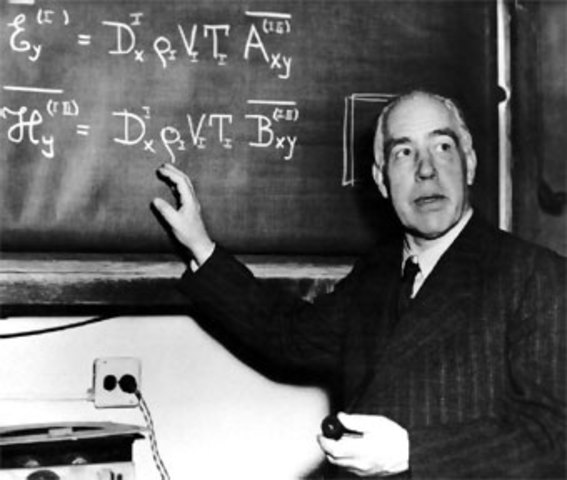 Niels Bohr introduce conceptos de la mecánica cuántica a la estructura atómica