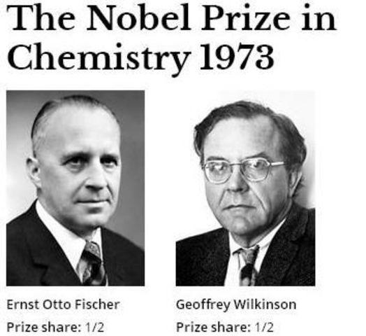 Robert Burns Woodward, Geoffrey Wilkinson y Ernst Otto Fischer