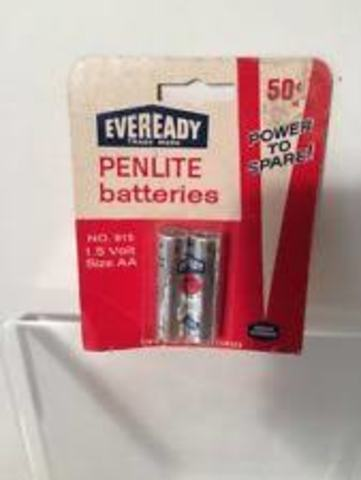 """Eveready """"AA"""" size batteries"""