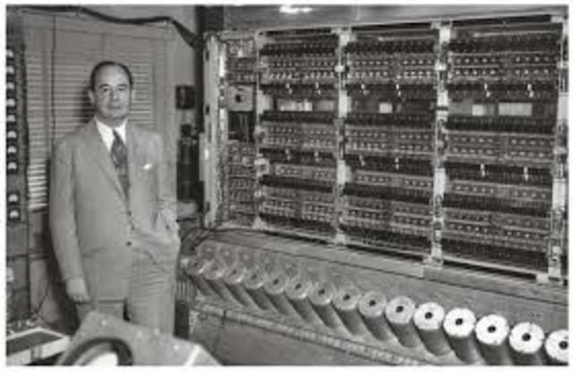 John Mauchly and J. Presper Eckert, build the Electronic Numerical Integrator and Calculator (ENIAC)