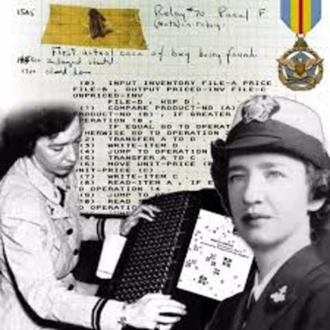 Grace Hopper develops the first computer language