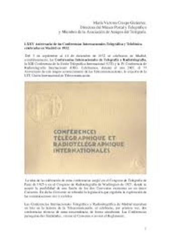 La Unión Telegráfica Internacional y la Unión Radiotelegráfica