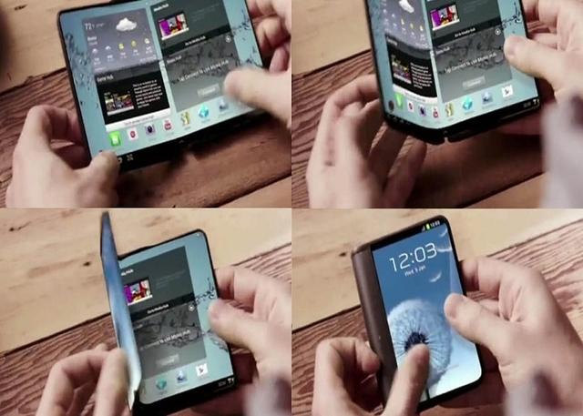El smartphone flexible de Samsung