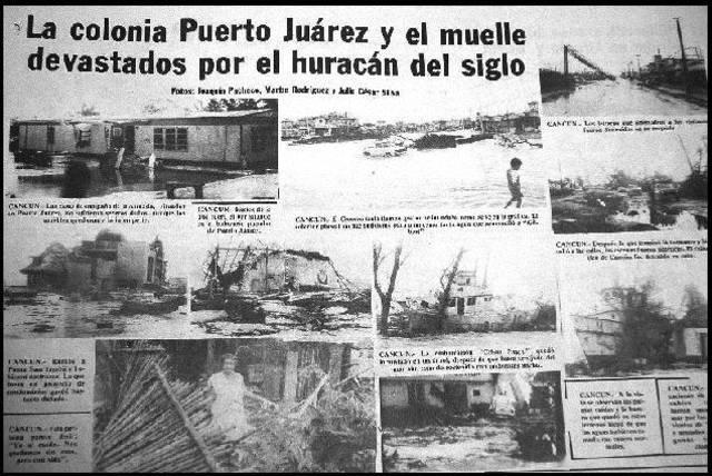 Huracán Gilberto Cancún, q. roo.