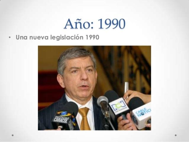 Una nueva legislación 1990