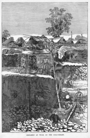 Chinese Diggers Victimised on the Gold Fields