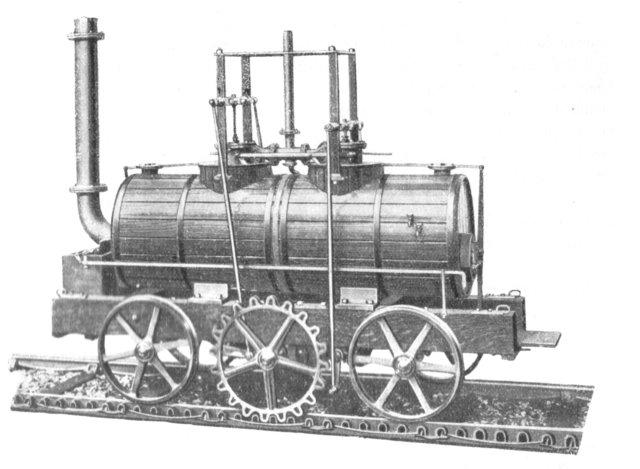 El sistema de cremallera para locomotora