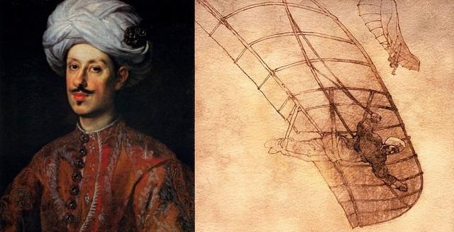 Abbás Ibn Firnás - Alas de madera