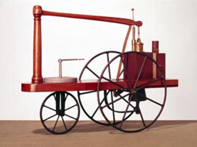 Modelo de carro a vapor