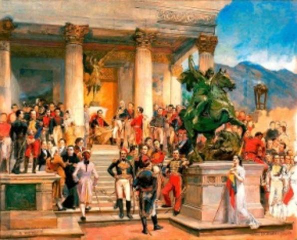 Simón Bolívar toma caracas
