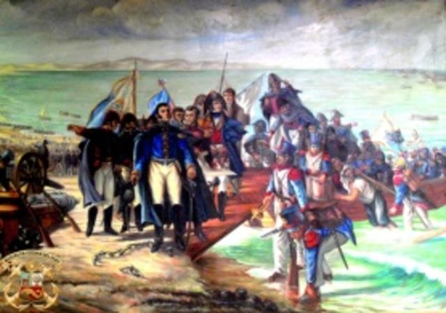 José de San Martin desembarca en Perú: