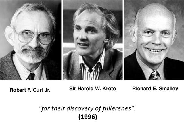 Harold Kroto, Robert Curl y Richard Smalley