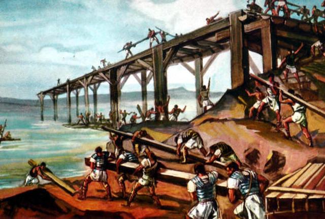 El Primer Puente Sobre Pontones.