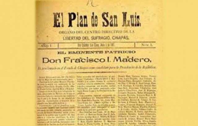 Madero y el Plan de San Luis